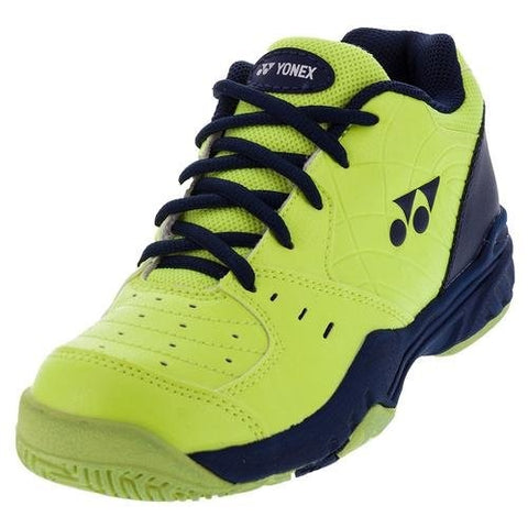 Yonex Power Cushion Eclipsion Junior Tennis Shoe (Yellow/Navy) - RacquetGuys.ca