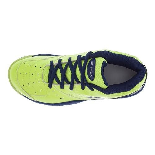 Yonex Power Cushion Eclipsion Junior Tennis Shoe (Yellow/Navy) - RacquetGuys