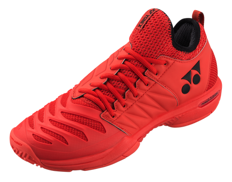 Yonex Power Cushion Fusion Rev Men's Tennis Shoe 3 (Red) - RacquetGuys