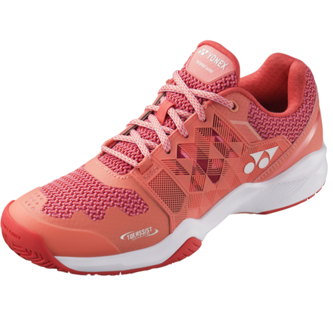 Yonex Power Cushion Sonicage Women's Tennis Shoe (Coral) - RacquetGuys.ca