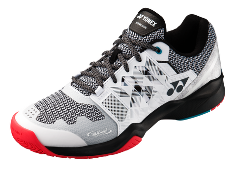 Yonex Power Cushion Sonicage Men's Tennis Shoe (White/Black) - RacquetGuys