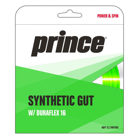 Prince Synthetic Gut 16 Duraflex Tennis String (Green) - RacquetGuys