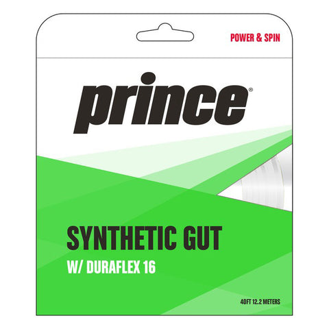 Prince Synthetic Gut 16 Duraflex Tennis String (White) - RacquetGuys.ca