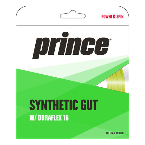 Prince Synthetic Gut 16 Duraflex Tennis String (Yellow) - RacquetGuys