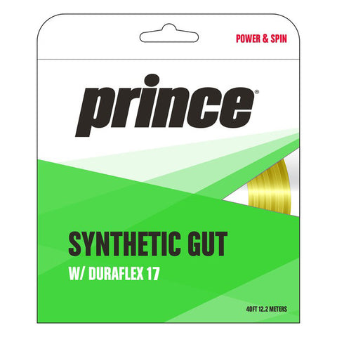 Prince Synthetic Gut 17 Duraflex Tennis String (Gold) - RacquetGuys
