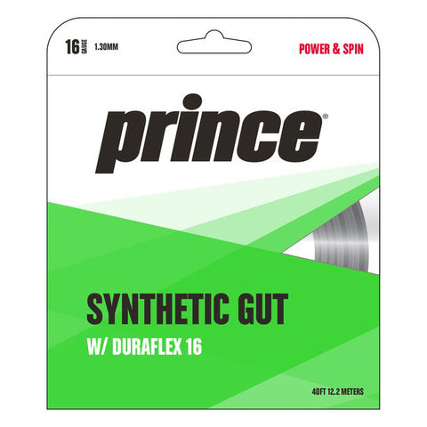 Prince Synthetic Gut 16 Duraflex Tennis String (Black) - RacquetGuys.ca