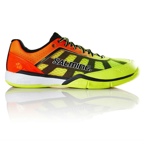 Salming Viper 4 Junior Indoor Court Shoe (Yellow/Orange) - RacquetGuys.ca