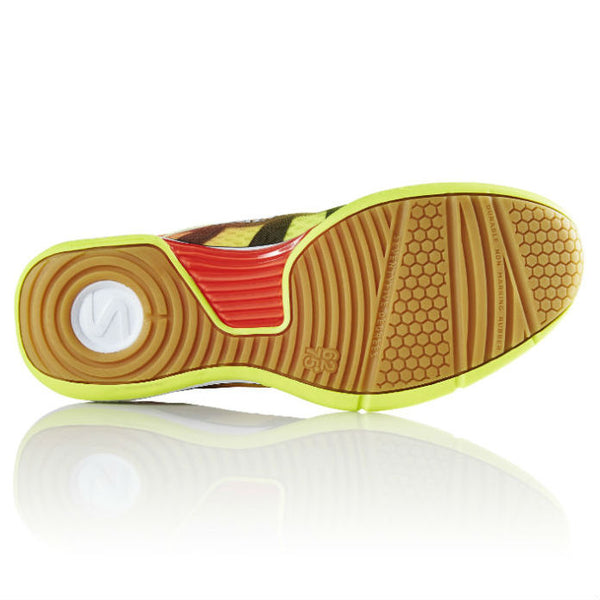 Salming Viper 4 Junior Indoor Court Shoe (Yellow/Orange) - RacquetGuys