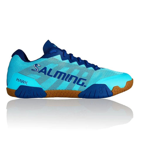 Salming Hawk Womens Indoor Court Shoe (Turquoise/Limoges Blue) - RacquetGuys