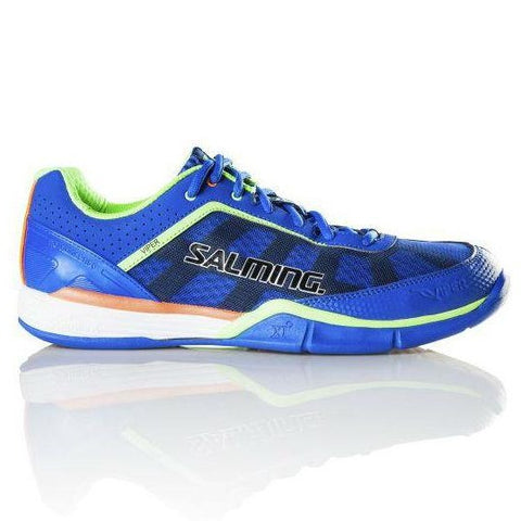 Salming Viper 3.0 Mens Indoor Court Shoe (Blue/Green) - RacquetGuys.ca