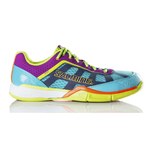 Salming Viper 3.0 Womens Indoor Court Shoe (Turquoise/Cactus Flower) - RacquetGuys.ca