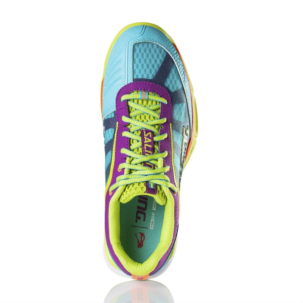 Salming Viper 3.0 Womens Indoor Court Shoe (Turquoise/Cactus Flower) - RacquetGuys