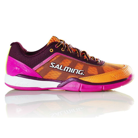 Salming Viper 4 Womens Indoor Court Shoe (Purple/Orange) - RacquetGuys