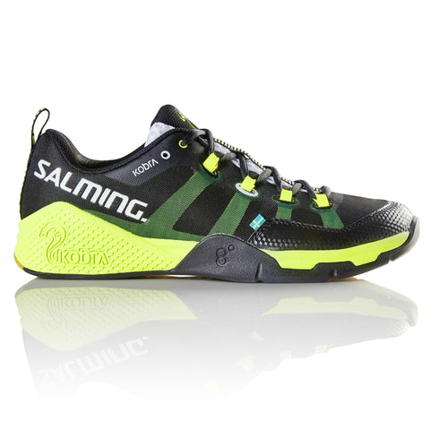 Salming Kobra Mens Indoor Court Shoe (Black/Yellow) - RacquetGuys
