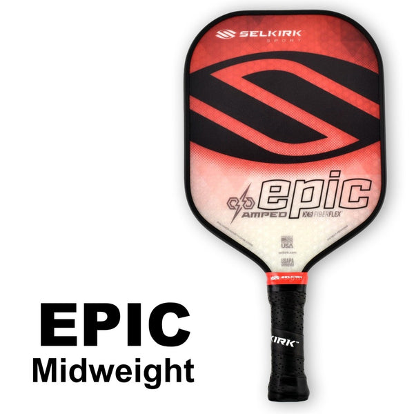Selkirk Amped Epic Midweight (Red) - RacquetGuys