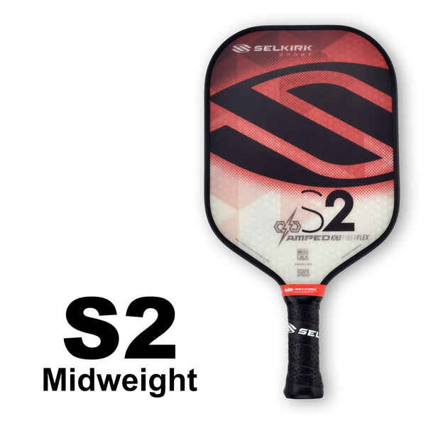 Selkirk Amped S2 Midweight (Red) - RacquetGuys