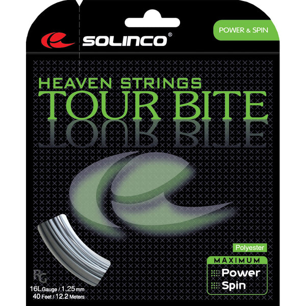 Solinco Tour Bite 16L Tennis String (Silver) - RacquetGuys