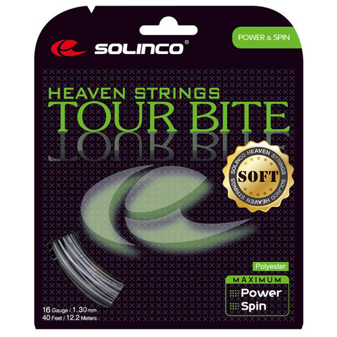 Solinco Tour Bite Soft 16 Tennis String (Silver)