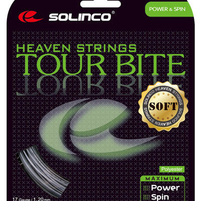 Solinco Tour Bite Soft 17 Tennis String (Silver)