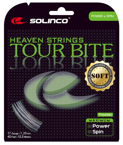 Solinco Tour Bite Soft 17 Tennis String (Silver) - RacquetGuys.ca