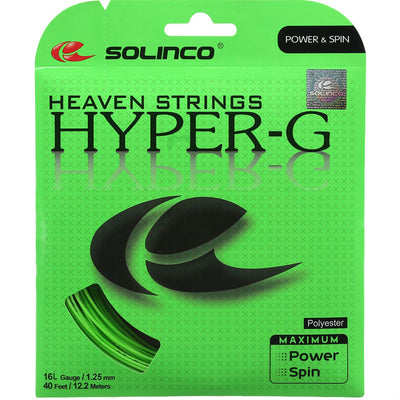 Solinco Hyper-G 16L Tennis String (Green)