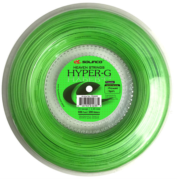 Solinco Hyper-G 20 Tennis String Reel (Green) - RacquetGuys.ca