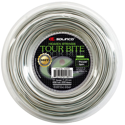 Solinco Tour Bite Soft 17 Tennis String Reel (Silver)