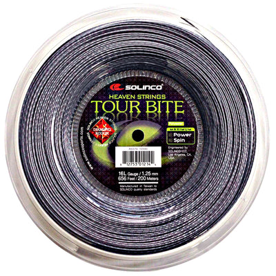 Solinco Tour Bite Diamond Rough 16L Tennis String Reel (Silver)