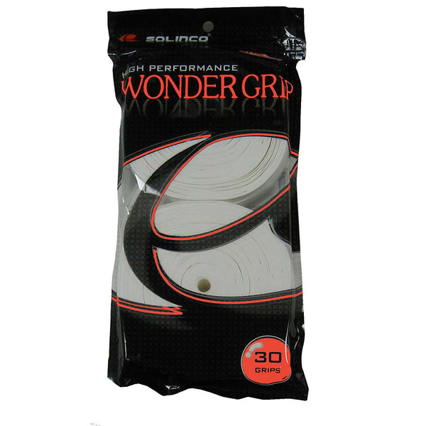 Solinco Wonder Overgrips 30 Pack (White) - RacquetGuys