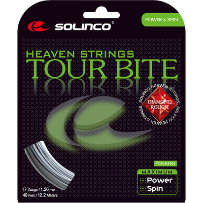 Solinco Tour Bite Diamond Rough 17 Tennis String (Silver)
