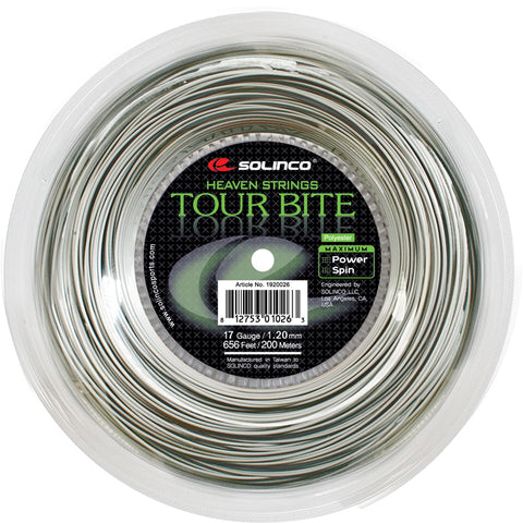 Solinco Tour Bite 17 Tennis String Reel (Silver)