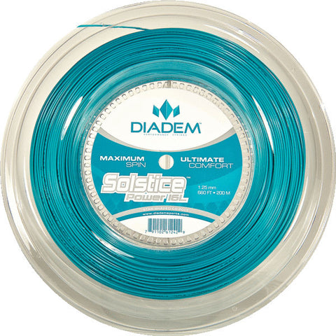 Diadem Solstice Power 16L Tennis String Reel (Teal) - RacquetGuys.ca
