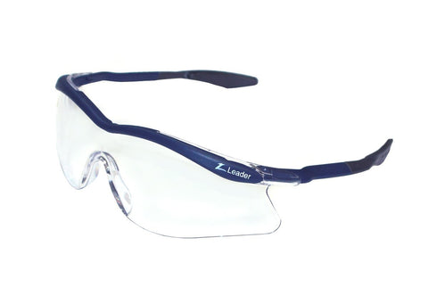 Leader Phoenix Eyeguard (Blue with Curved Arms) - RacquetGuys.ca