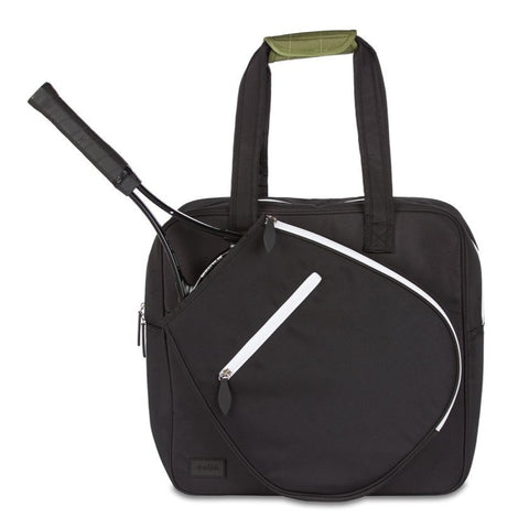 Ame & Lulu Sweet Shot Tote Racquet Bag (Black Sweet) - RacquetGuys