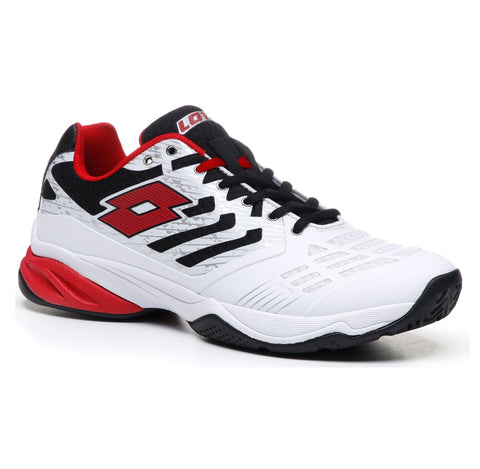 Lotto Ultrasphere II All Around Men's Tennis Shoe (White/Red) - RacquetGuys