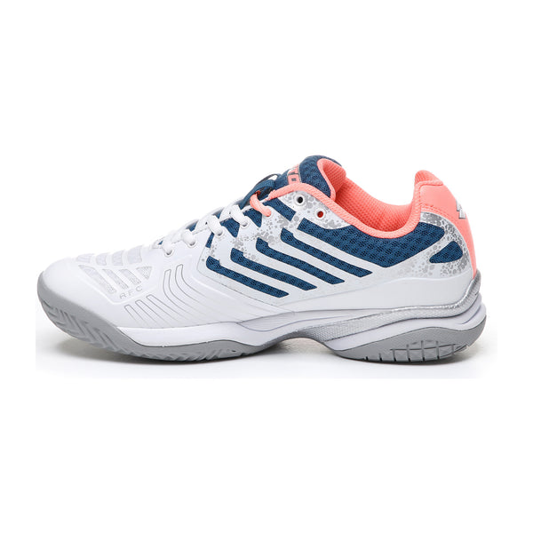 Lotto Ultrasphere II All Around Women's Tennis Shoe (White/Blue/Pink) - RacquetGuys