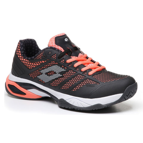 Lotto Viper Ultra IV Speed Women's Tennis Shoe (Black/Rose Pink) - RacquetGuys