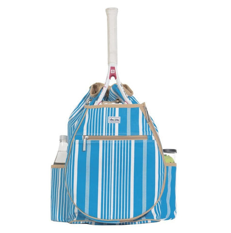 Ame & Lulu Kingsley Ticking Stripe Backpack Racquet Bag - RacquetGuys.ca