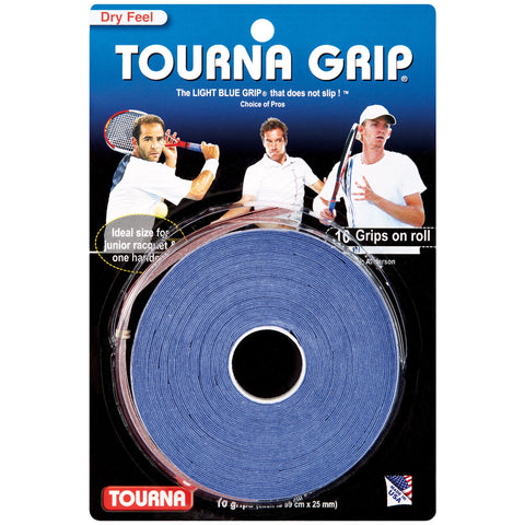 Tourna Grip Original Overgrip 10 Pack (Blue) - RacquetGuys