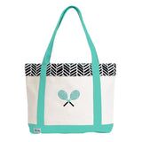 Ame & Lulu Tennis Lovers Black Shutters Tote Racquet Bag - RacquetGuys