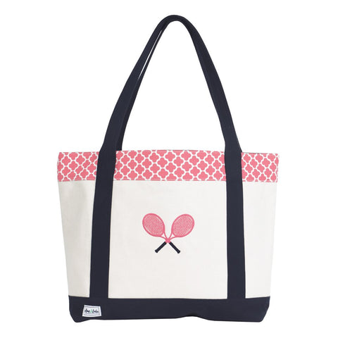 Ame & Lulu Tennis Lovers Clover Tote Racquet Bag