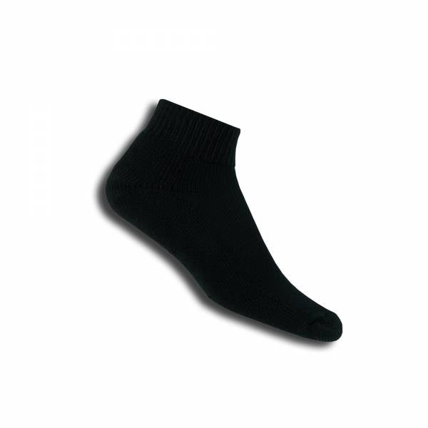 Thorlo TMX Mini-Crew Unisex Sock (Black) - RacquetGuys