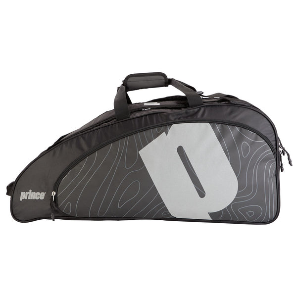 Prince Tour Reflective 6 Pack Racquet Bag (Black/Silver)