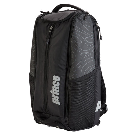 Prince Tour Dufflepack Backpack Racquet Bag Black/Silver - RacquetGuys.ca
