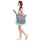 Ame & Lulu Emerson Black Shutters Tote Racquet Bag
