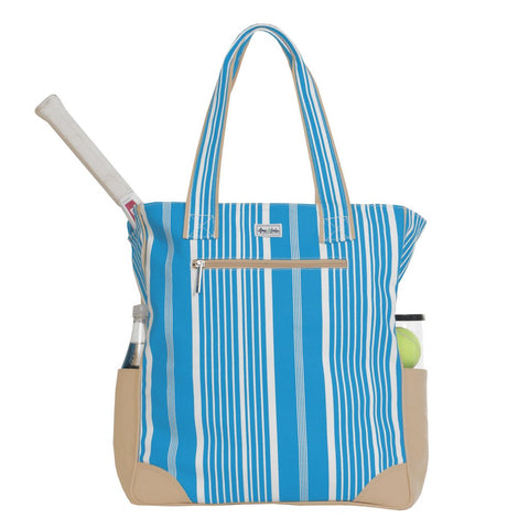 Ame & Lulu Emerson Ticking Stripe Tote Racquet Bag - RacquetGuys
