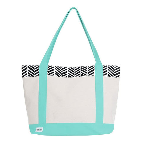 Ame & Lulu Tucket Tote Black Shutters Racquet Bag - RacquetGuys.ca