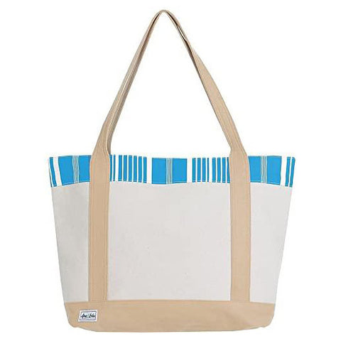 Ame & Lulu Tucket Ticking Stripe Tote Racquet Bag - RacquetGuys