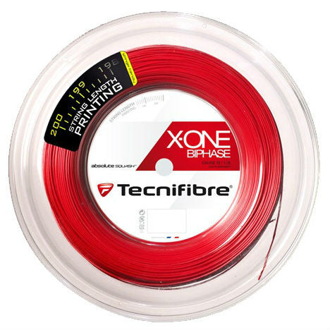 Tecnifibre X-One Biphase 18 Squash String Reel (Red) - RacquetGuys.ca