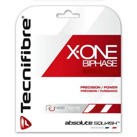 Tecnifibre X-One Biphase 18 Squash String (Red) - RacquetGuys.ca